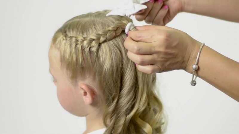CUTE QUICK EASY! BACK TO SCHOOL HAIRSTYLE. Quick and Easy hairstyle for little pricess 38