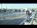Фуру на МКАД разорвало пополам, водитель погиб на месте. \ ДТП, аварии грузовиков и фур.