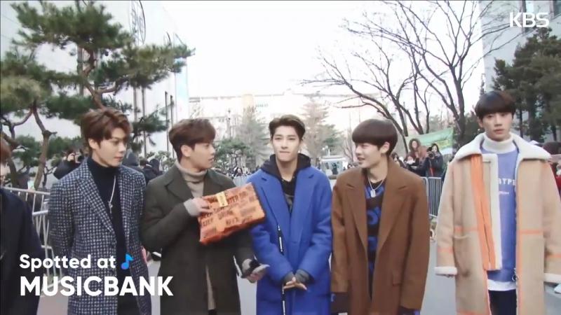 180119 Unit B (Handsome boys) @ По пути Music Bank. СМИ