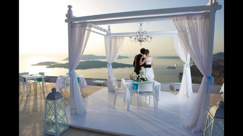 Свадьба на Санторини на площадке Santorini Gem Марии и Павла