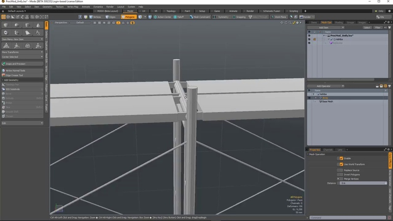 MODO 12.1 Unify Poly | Mesh Ops