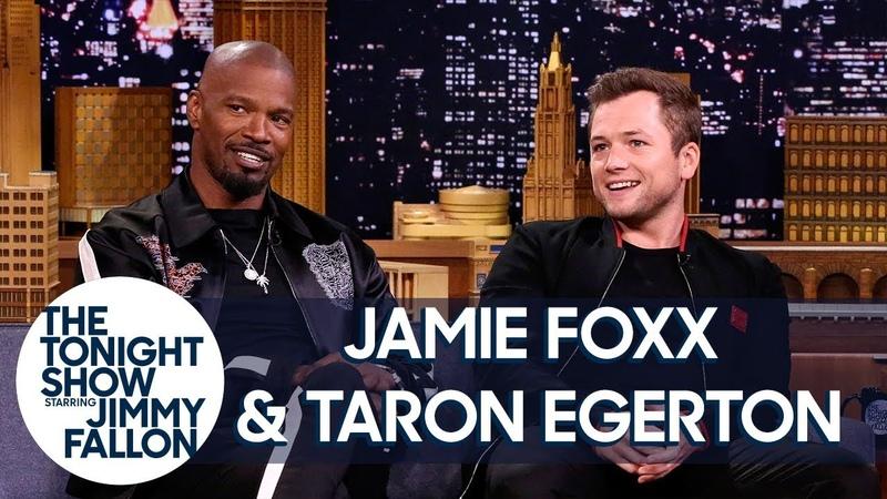 Jamie Foxx Taron Egerton Talk About Robin Hood