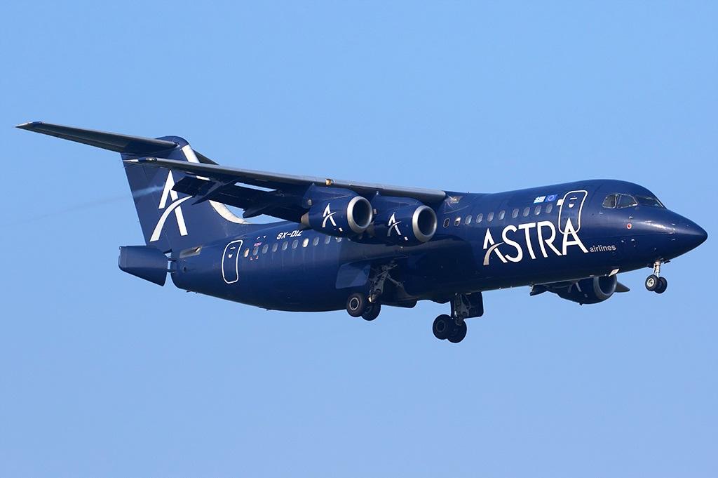 British Aerospace авиакомпании Astra Airlines в полете