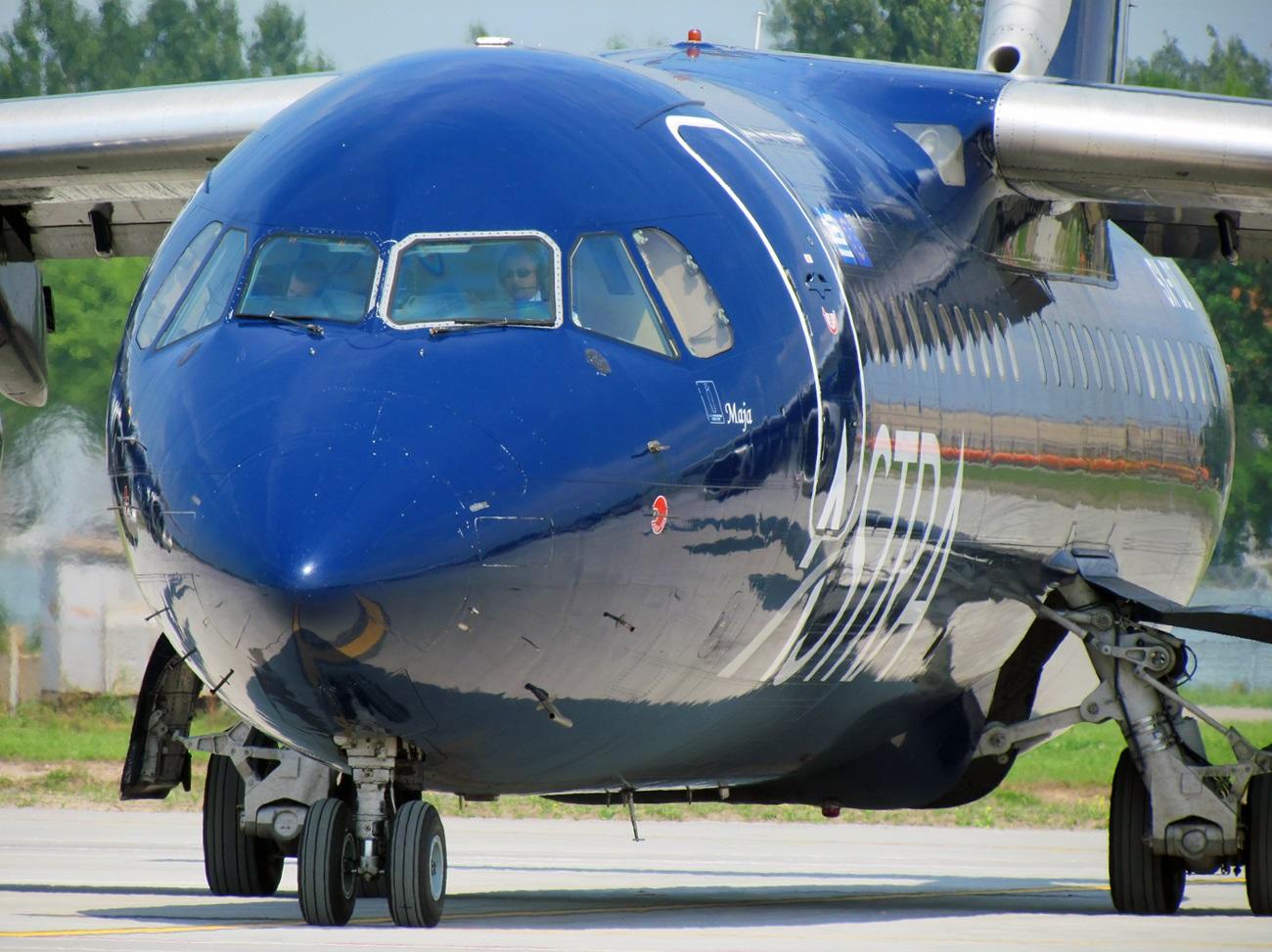 BAe греческой авиакомпании, участвовавший в инциденте в Харьковском аэропорту