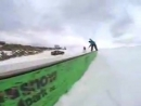 Subaru Imreza WRX STI vs snowboard