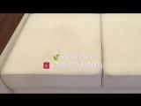 🍃Химчистка углового белого дивана 🍃Преображение на Ваших глазах