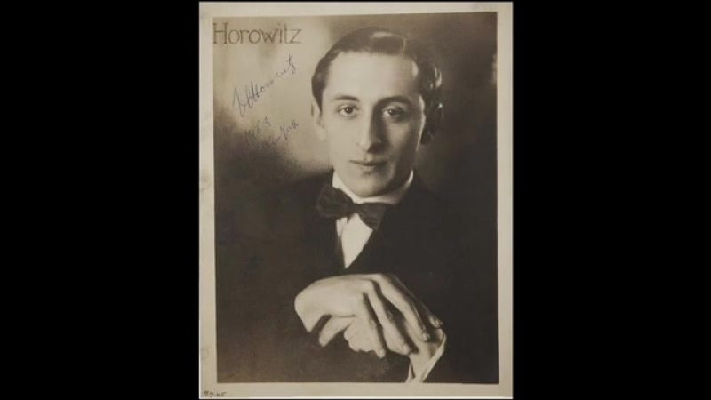 "Horowitz plays Liszt-Busoni ""Figaro"" Fantasy (1926)"