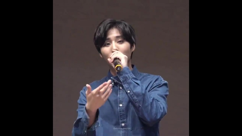 180712 Gwanghwamun Fansign DAY6 - I can (YoungK focus)