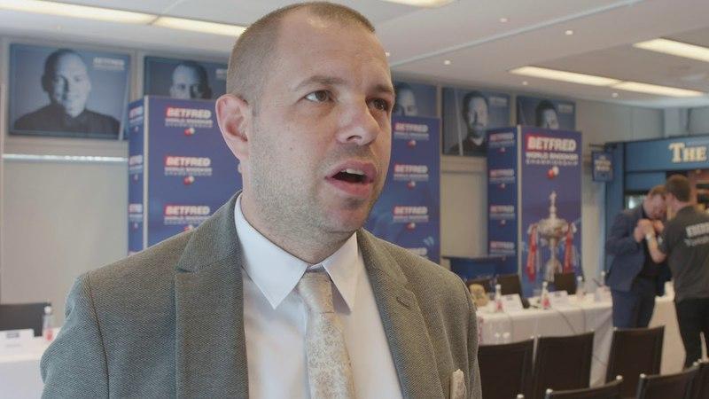 Barry Hawkins - Betfred World Snooker Championship 2018 - Press Day