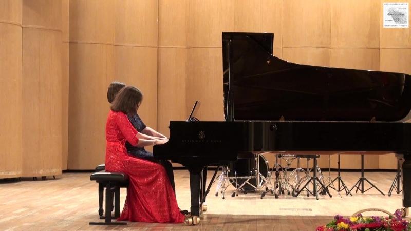 К. Черни Соната f-moll для фортепиано в 4 руки 1 часть Ансамбль Devils Fingers Елена Власова Анна Расина