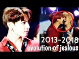 when jungkook is jealous and angry evolution of jealousy 2013-2018 VKOOK (TAEKOOK)
