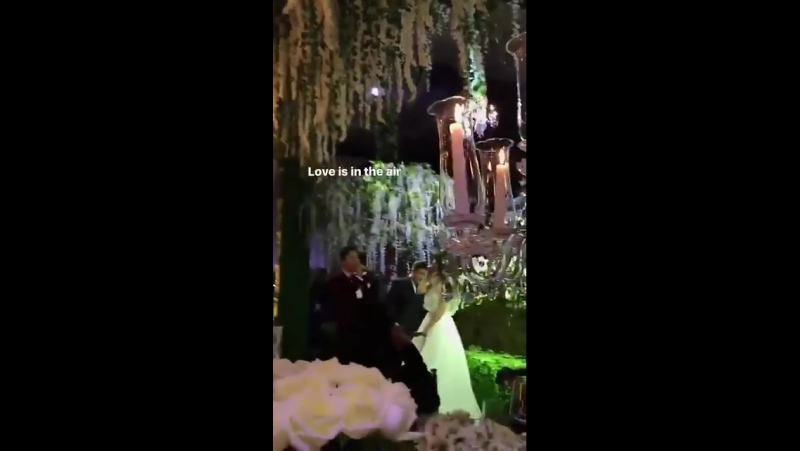 Youngbae singing EYES NOSE LIPS to Hyorin. IMvcr. chunjoanna (IG story)DopeWeddingCongratz
