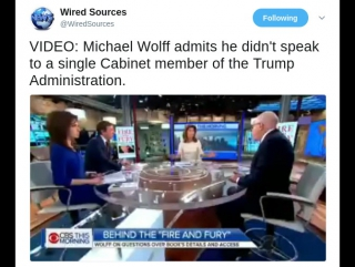 Michael Wolff Admits He Did Not Speak To A Single Cabinet Member Of The Trump Administration