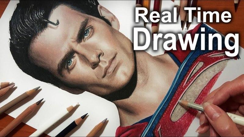 Real Time Drawing: Henry Cavill's Superman   Jasmina Susak