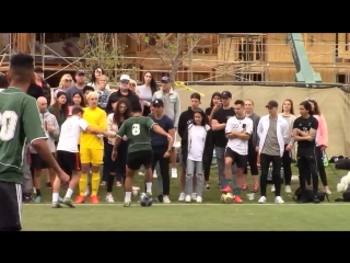 April 7: video of Justin playing soccer in Playa Vista, California.