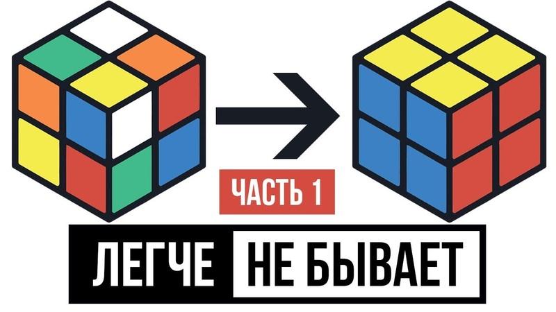Как собрать кубик Рубика 2х2 для начинающих Самый легкий способ сборки кубика 2x2 в 2018