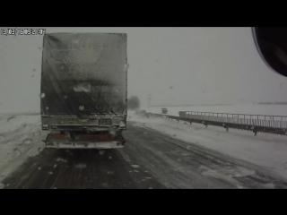 Последствия снегопада на М-1 в РБ , часть 1 снегопад в РБ