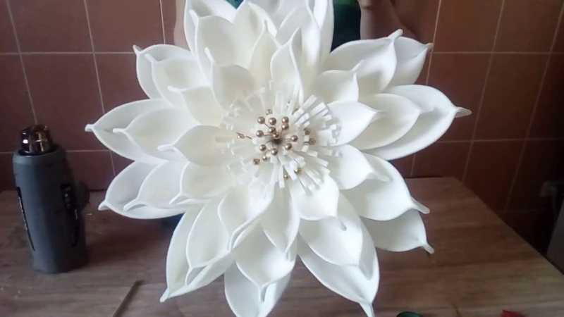 БЕСПЛАТНЫЙ МК Цветок для фотозоны на основе водяной лилии