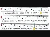 Hymnus VENI CREATOR SPIRITUS, Visione spartito, due versioni, SCHOLA GREGORIANA MEDIOLANENSIS, Dir. Giovanni Vianini, Milano