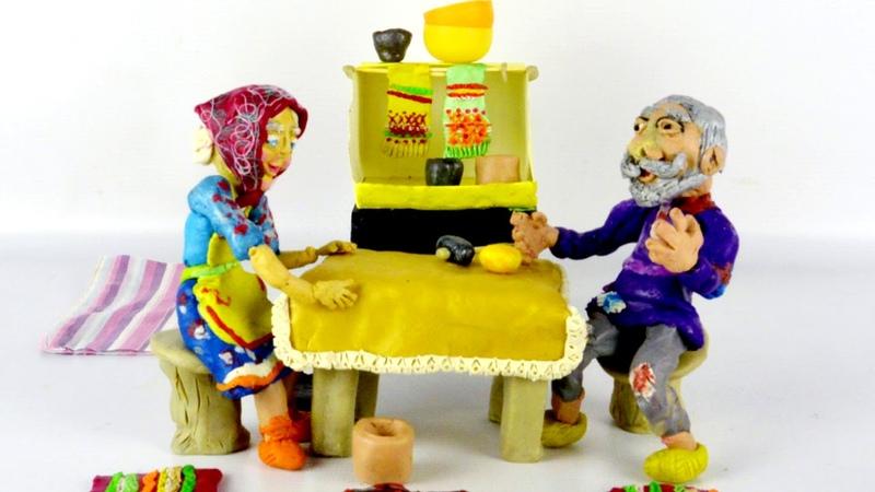 Мамины сказочки Курочка Ряба милый пластилиновый мультик