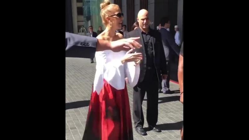 Celine leaving her hotel 14/07/2018