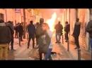 Batalla campal en el barrio de Lavapiés en Madrid