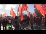 Праздничный марш КПРФ в честь Дня защитника Отечества