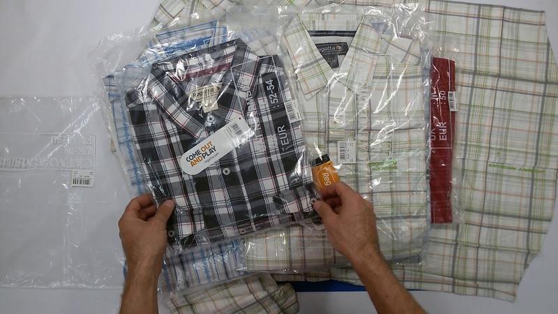 Regatta Mens Shirts summer Mix 3 kg мужские летние рубашки бренда Regatta сток 3 пакета