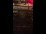 Приморский район, на Ж/Д переходе в створе Туристской улицы установили светодиодную подсветку. (25.01.2018)