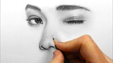 Timelapse Drawing, shading and blending a face with Faber Castell graphite pencils Emmy Kalia