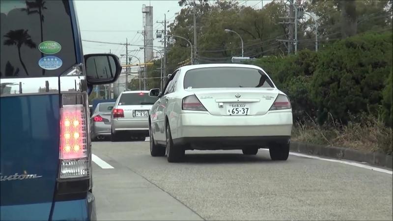【走行動画】 マジェスタ&マークX 低すぎ鬼キャン シャコタン 車高短 Lowered Lowcar