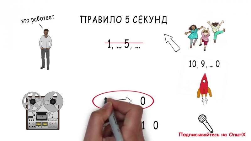 3 простых способа заставить себя начать дела - Правило 5 секунд - Зейгар
