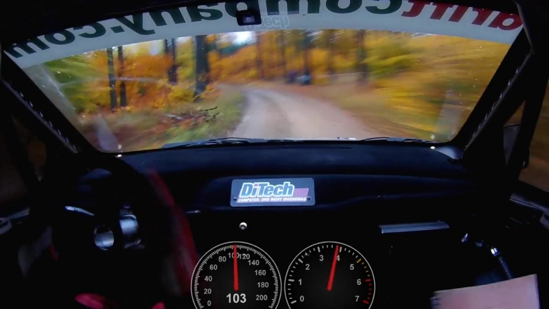 206 km_h durch den Wald - Beppo Harrach bei der Waldviertel Rallye
