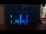 Пиксельный светодиодный фасад диджея. Звуковая активация.