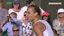 2016 07 02 Wimbledon Dominika Cibulkova vs Eugenie Bouchard Round 3