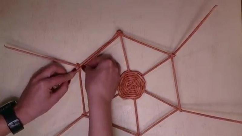 Świecznik gwiazdka, papierowa wiklina (Candlestick star, wicker paper)