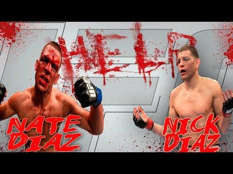 NATE DIAZ vs NICK DIAZ БОЙ МЕЖДУ БРАТЬЯМИ UFC 3 EA SPORTS