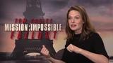 Mission Impossible - Fallout Rebecca Ferguson Paris Junket Interview SocialNews.XYZ