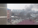 Сгорел дом в частном секторе у Ленты в Бийске 28.12.17