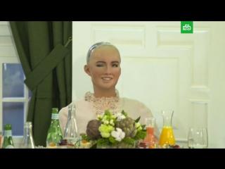 Греф и робот Софи