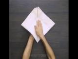Хозяйкам на заметку:  6 идей красиво сложить текстильные салфетки на столе ❤