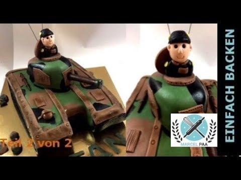 Panzer 3D Torte | Teil 2 von 2 | tank cake I Einfach Backen - Marcel Paa