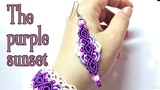 Macrame earrings tutorial The purple sunset
