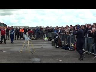 Rolls Royce Griffon V12 Mk58 36.7 litre engine run at Duxford Flying Legends.mp4