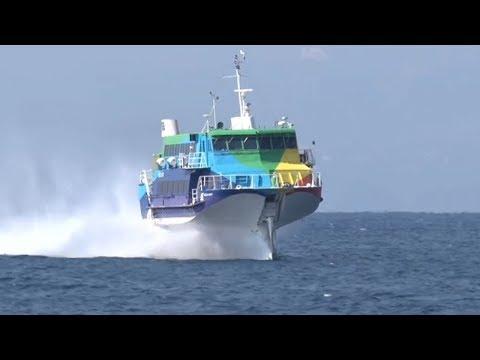 Incrível Navios Super Rápidos com turbinas de Avião Navios super Modernos