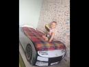 Кроватка-машинка Турбо Белая