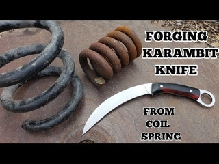 Forging A Karambit From A Coil Spring