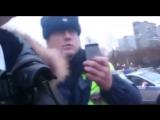 В Москве инспекторы ДПС  придушили пешехода