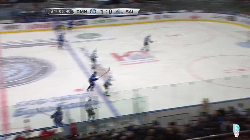 Моменты из матчей КХЛ сезона 14/15 • Гол. 2:0. Шарль Лингле (Динамо) удвоил преимущество своей команды 08.12