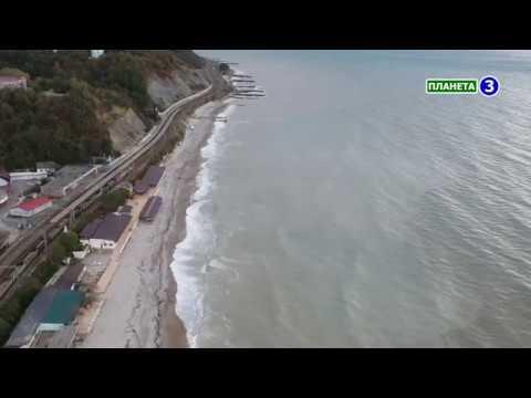 Шипящее Черное море в Шепси